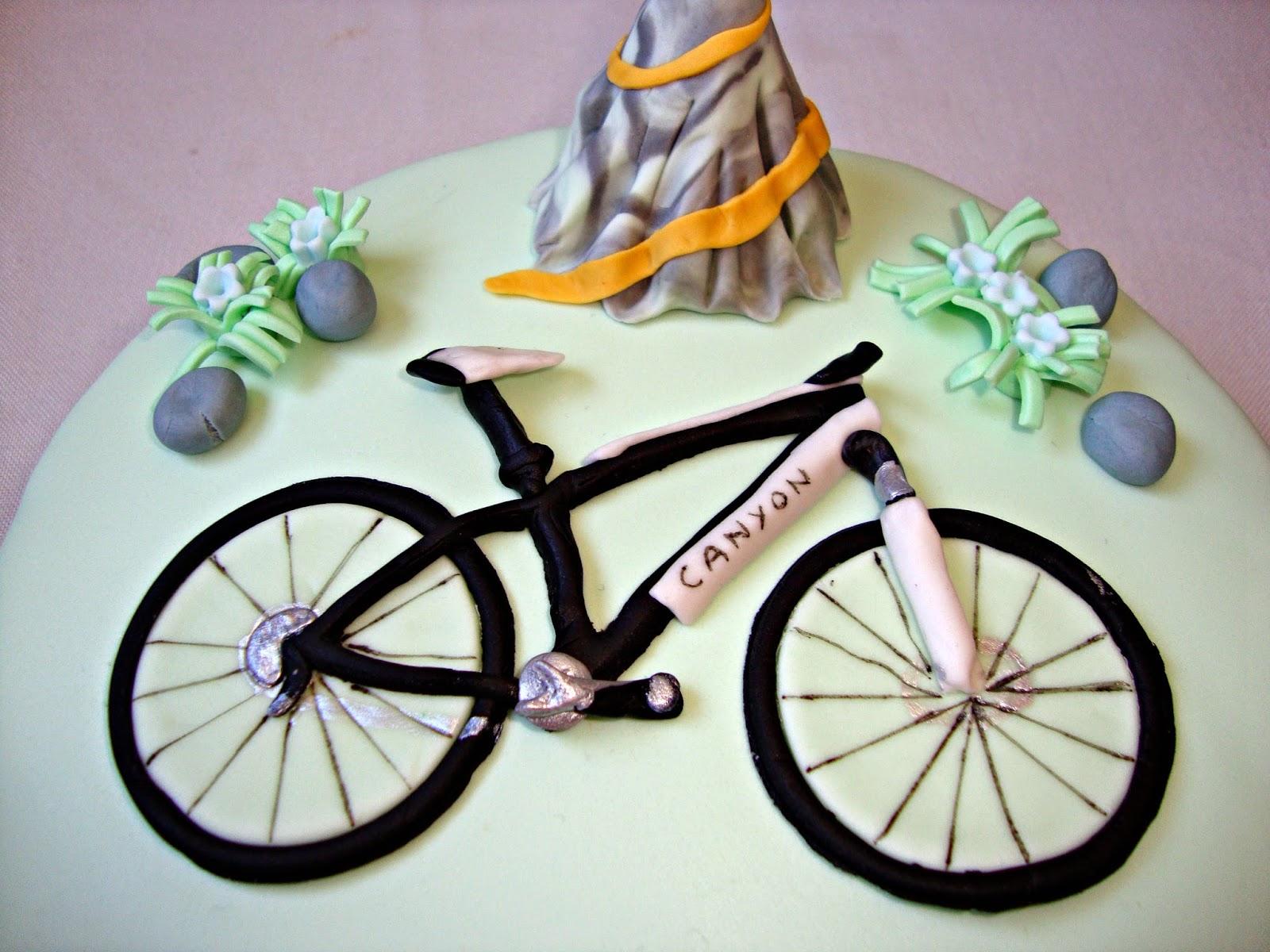 Detalle bicicleta de fondant