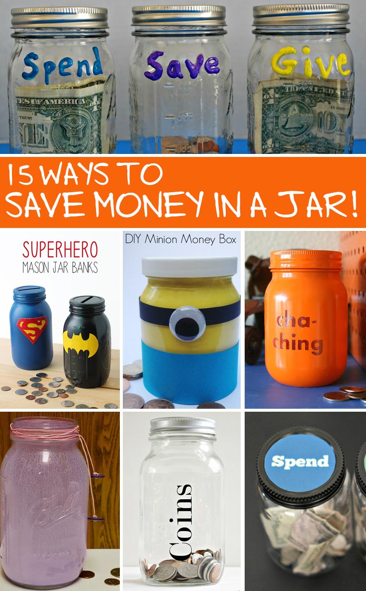 Crafts with jars save money in a jar for Cool money jars