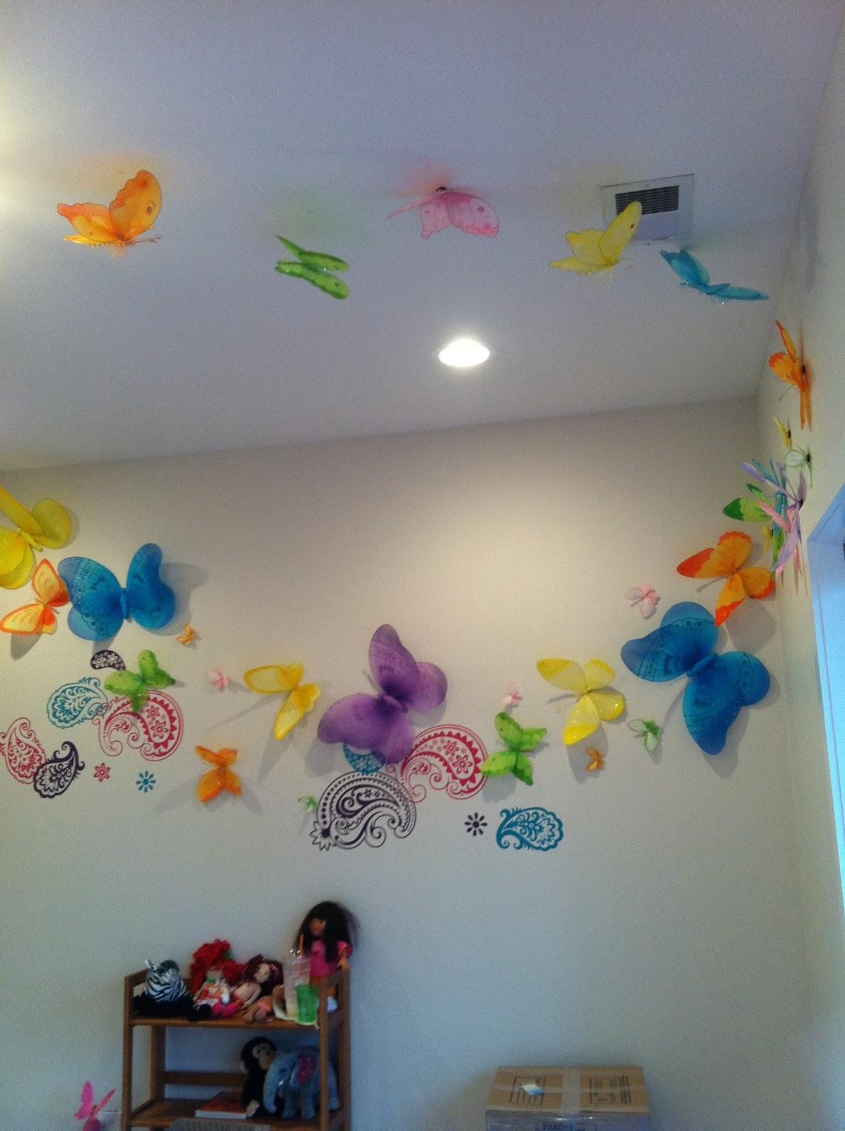 Dormitorios con mariposas - Mariposas para pared ...