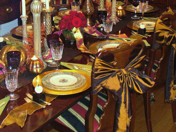 Modern furniture thanksgiving table settings decoration Cheap thanksgiving table setting ideas