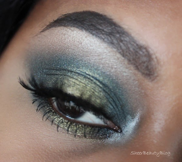 GREEN AND BLUE EYE SHADOW LOOK