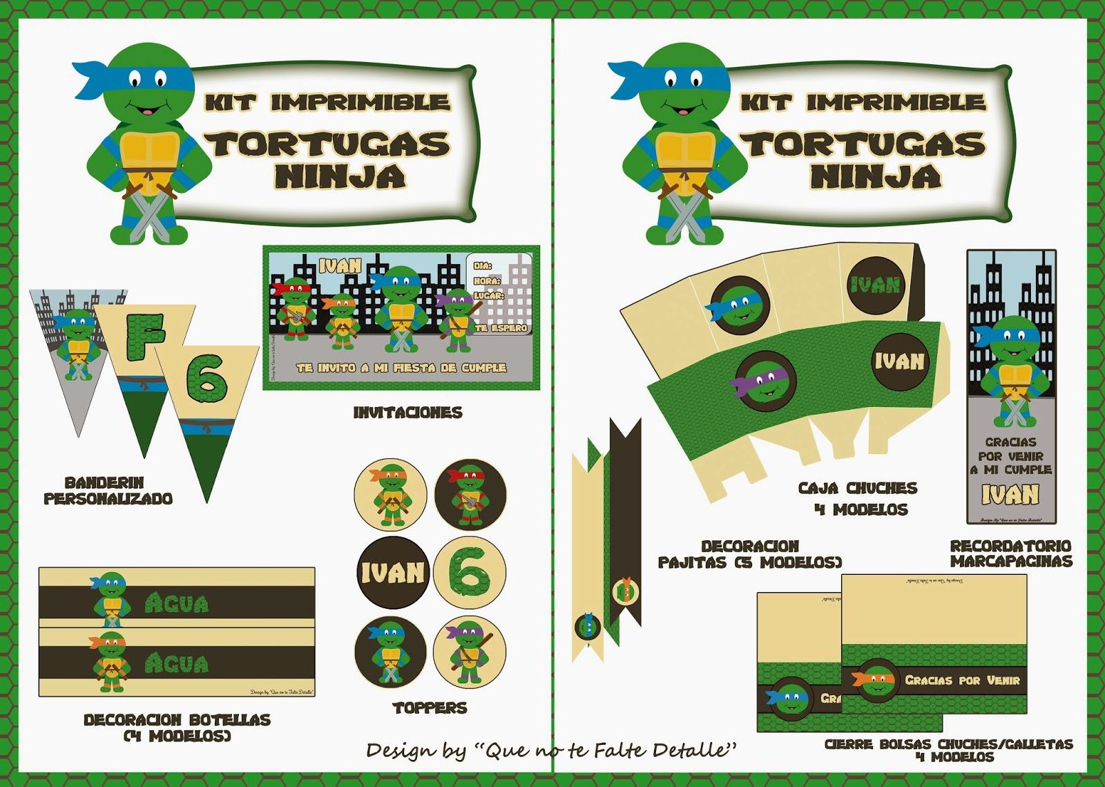 kit-imprimible-personalizado-tortugas-ninja