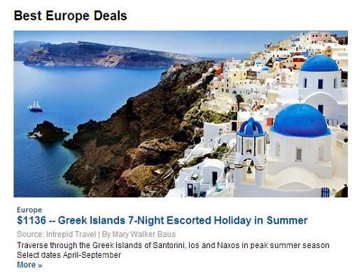 TravelZoo Greece Tour