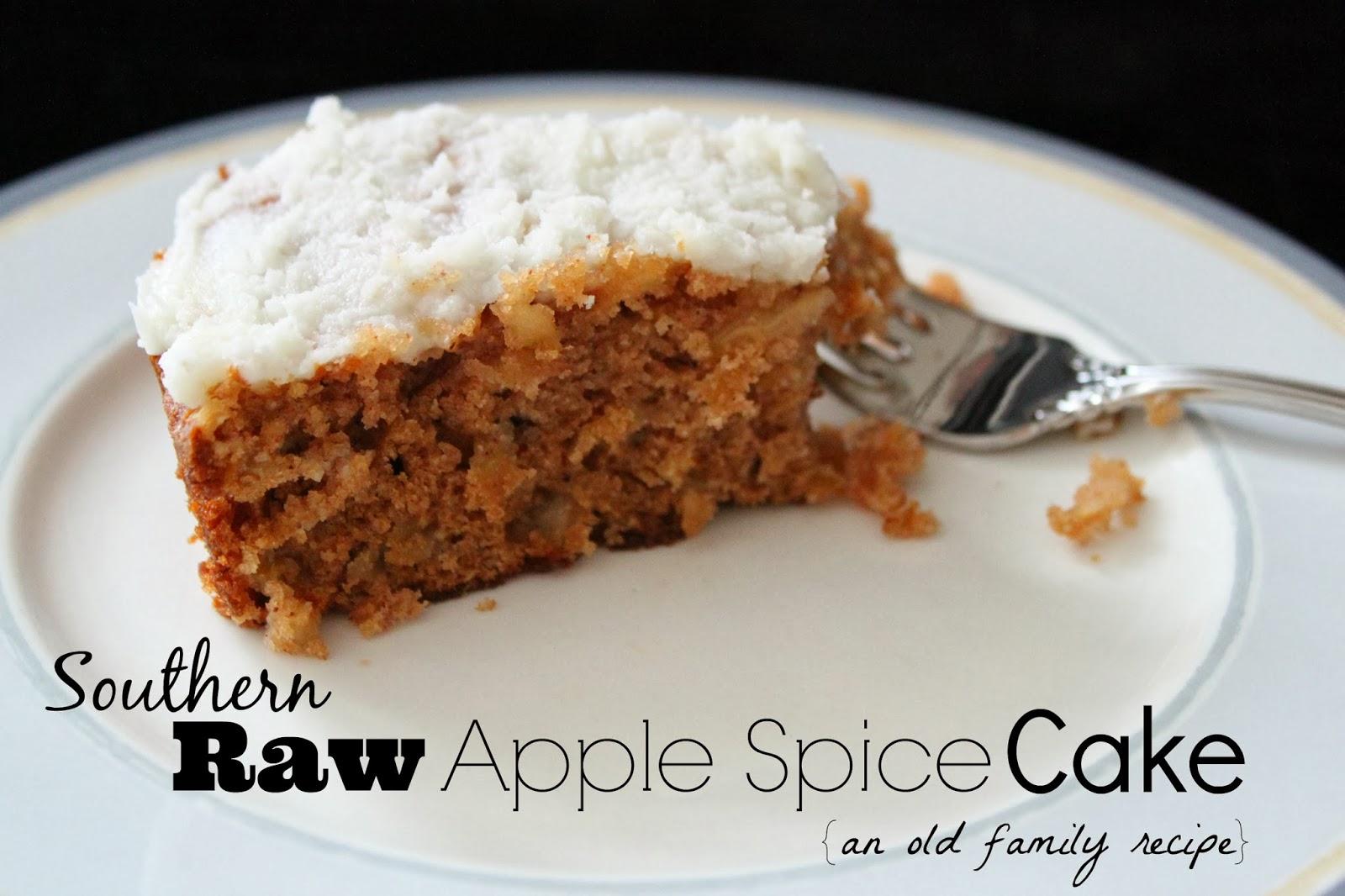 Sourthern Raw Apple Spice Cake