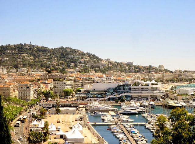 View from Le Suquet, of Cannes, France