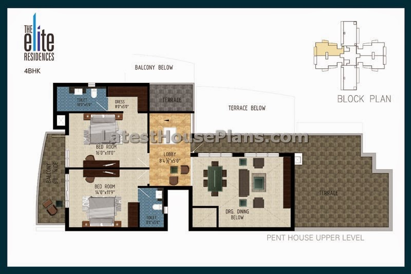 4 bhk duplex pent house floor plan in 2365 sqft area 5 bhk duplex floor plan