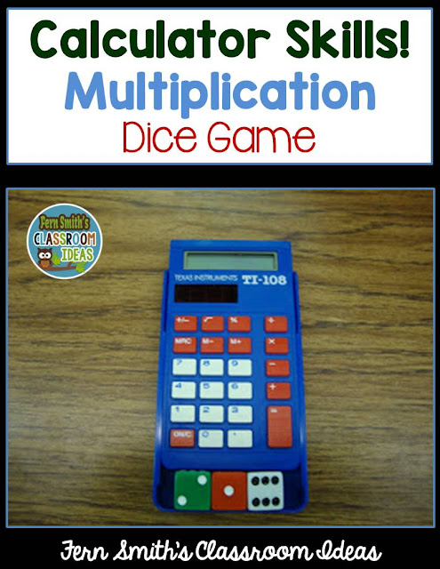 Multiplication calculator dice game fern smith 39 s for Floor calculator math