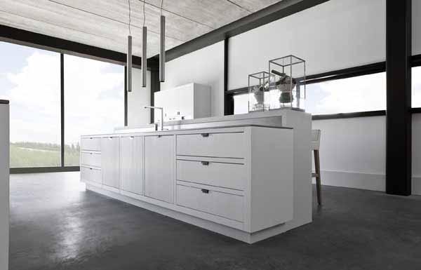 Desain Dapur Serba Putih Minimalis Dari Piet Boon