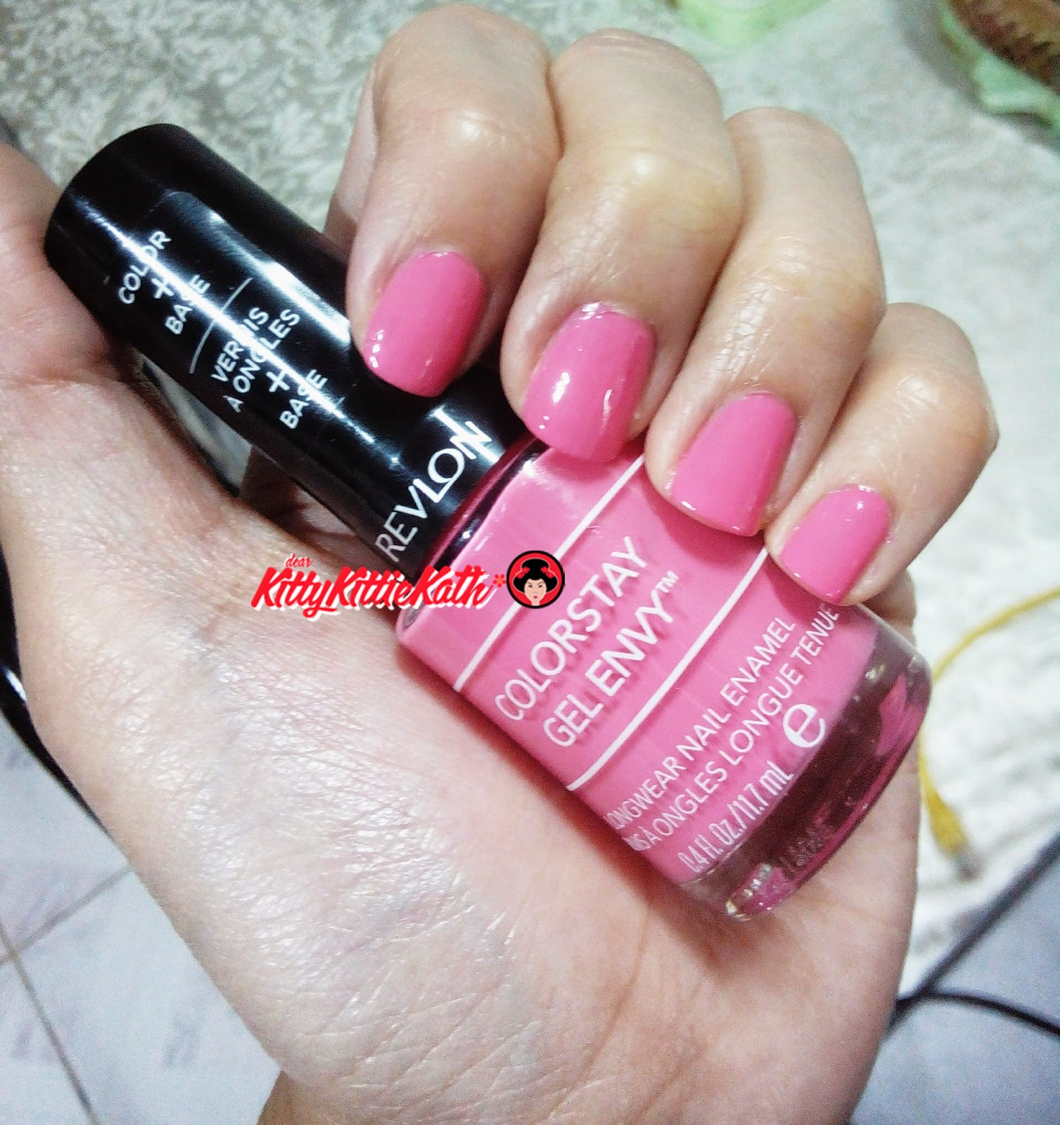 Product Review Revlon Colorstay Gel Envy Nail Enamel In Hot Hand Barbie Pink Shade