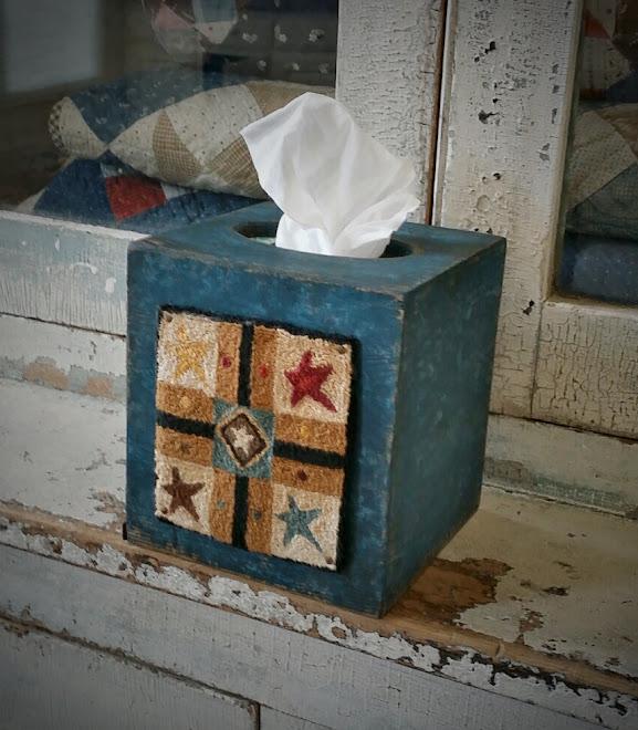 Punch Needle Kleenex Box Cover, $65