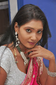 Actress Nisha Latest Photos in Pink saree-thumbnail-3