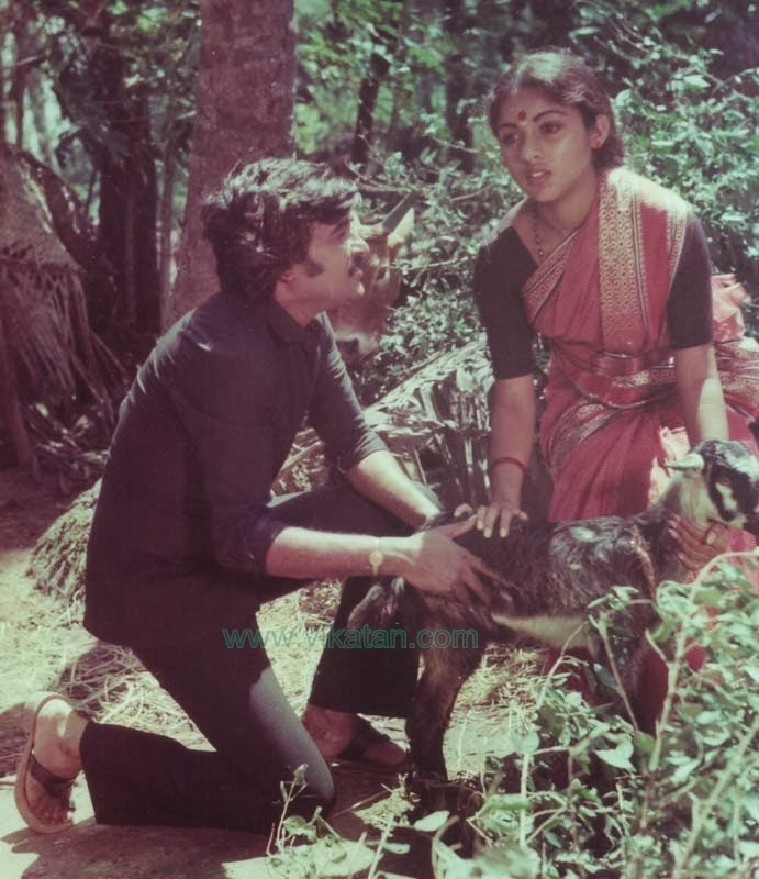 Rajinikanth & Revathi in 'Kai Kodukkum Kai' (1984) Tamil Movie 2