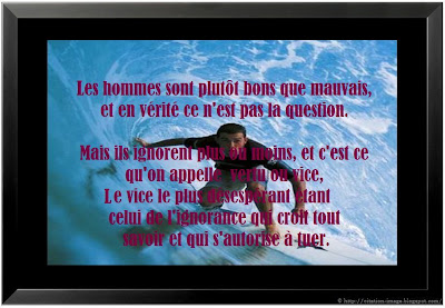 Citation homme en image