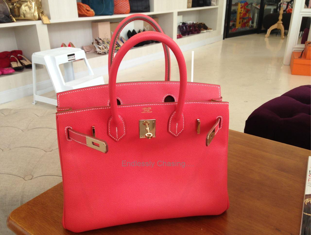 993cd5cfa058 Hermes Birkin 30 Rose Jaipur Epsom GHW