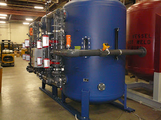 150 GPM demineralizer with a compact design of piping