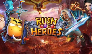 Screenshots of the Rush of heroes for Android tablet, phone.