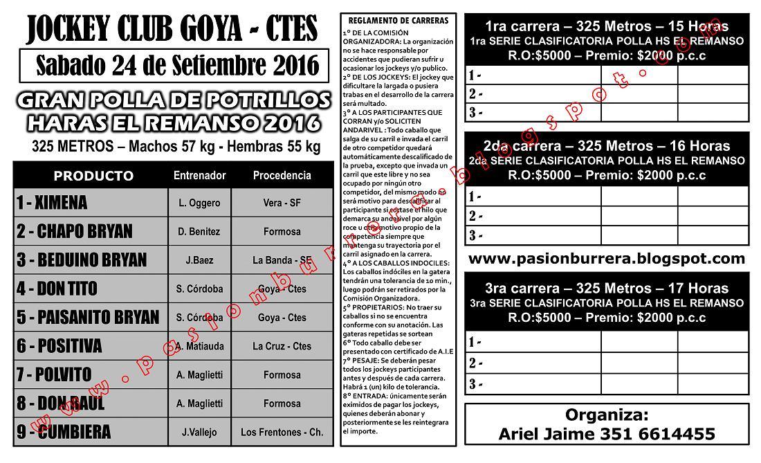 GOYA - PROGRAMA - SABADO 24