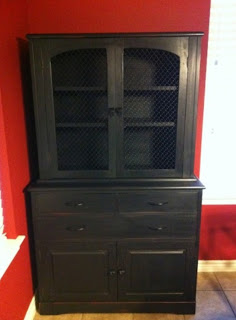 The Funkie Munkie Furniture Back In Black China Cabinet