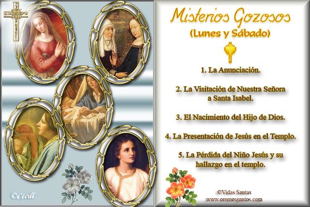 ® Blog Católico Gotitas Espirituales ®: MISTERIOS DEL