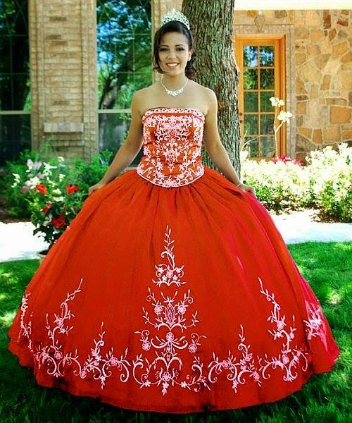 Vestidos de 15 años de corte tradicional