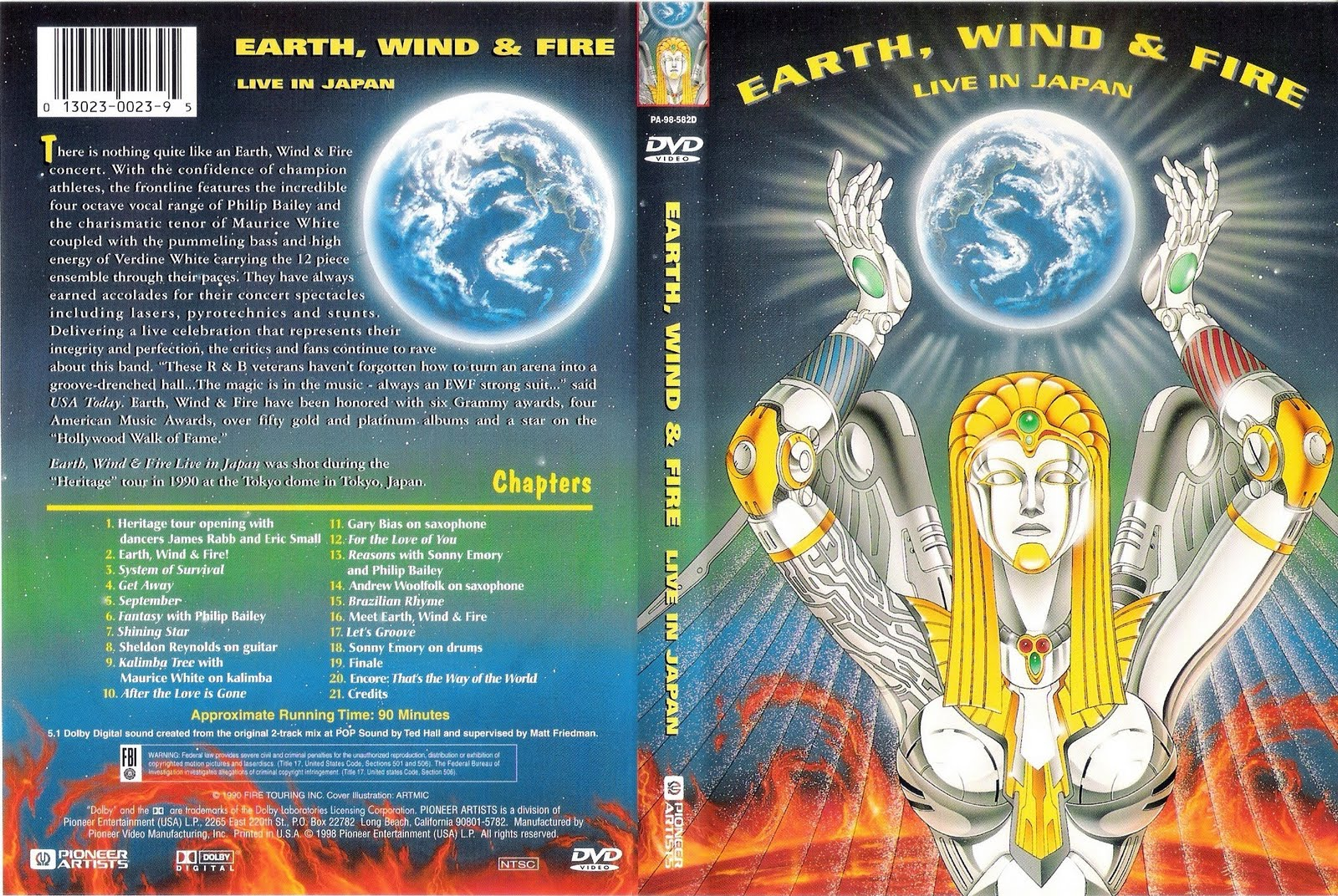 Cat logo dvd m sica earth wind fire live in japan for 1980 floor show dvd
