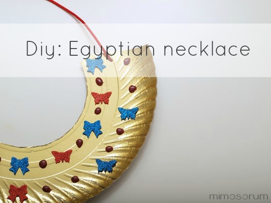 Collar egipcio para niños. Diy: Egyptian necklace