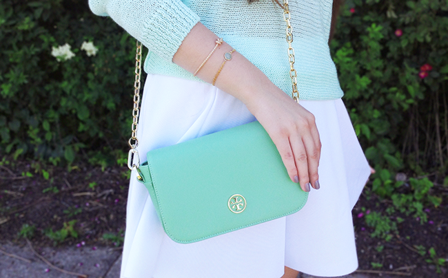 Tory Burch mint green robinson shoulder bag