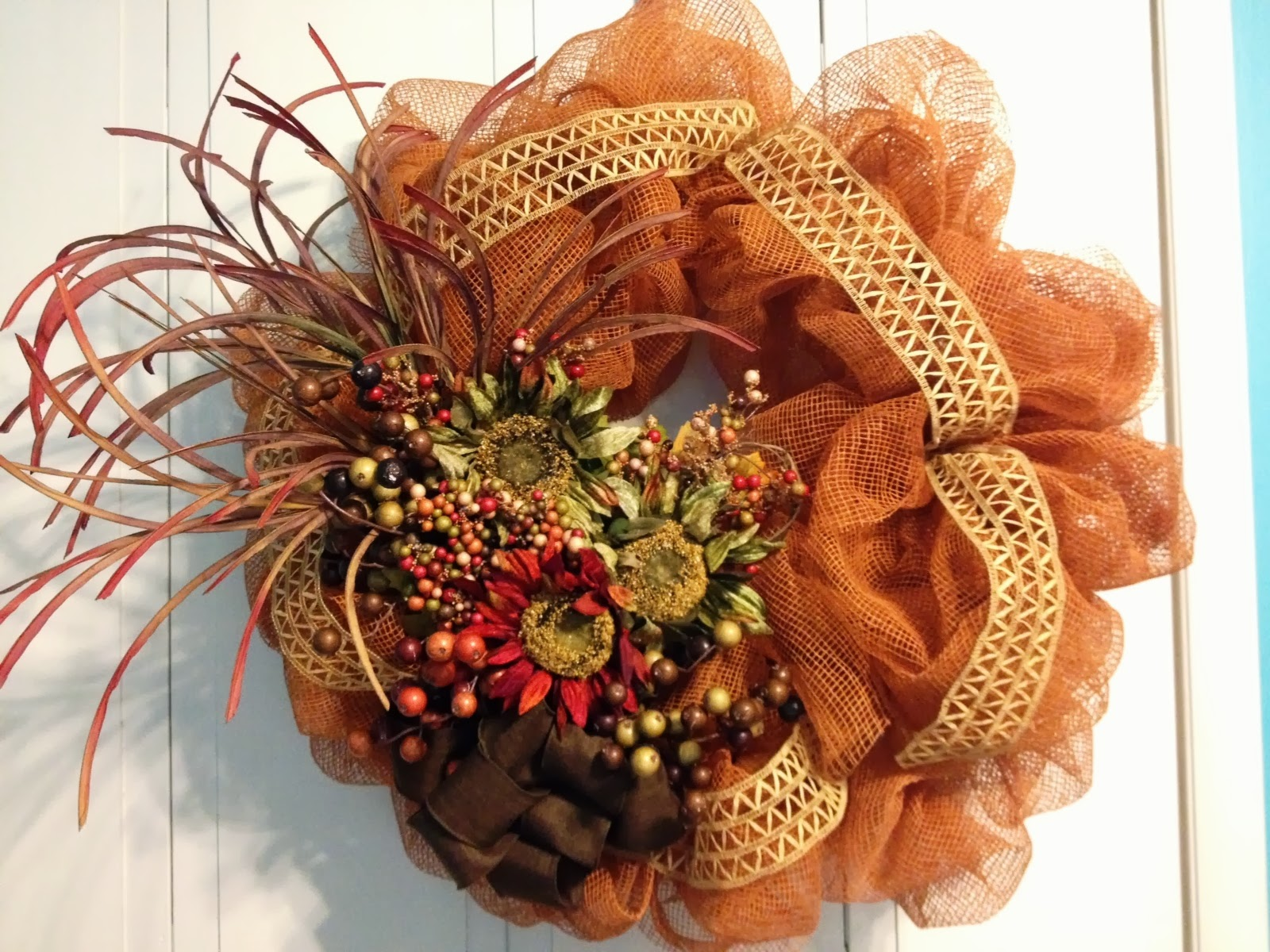 Tangled Wreaths Fall D Cor Wreath Deco Mesh Earth