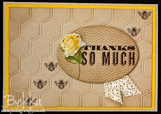 Thank You So Much Honeycomb Card by Stampin' Up! Demonstrator Bekka Prideaux - find out one way she gets her inspiration here