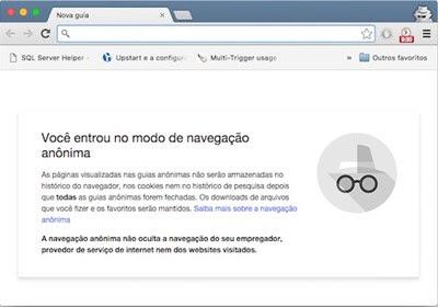 Navegação privada presentes nos principais navegadores