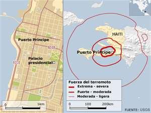 Mapa del terremoto de Haití