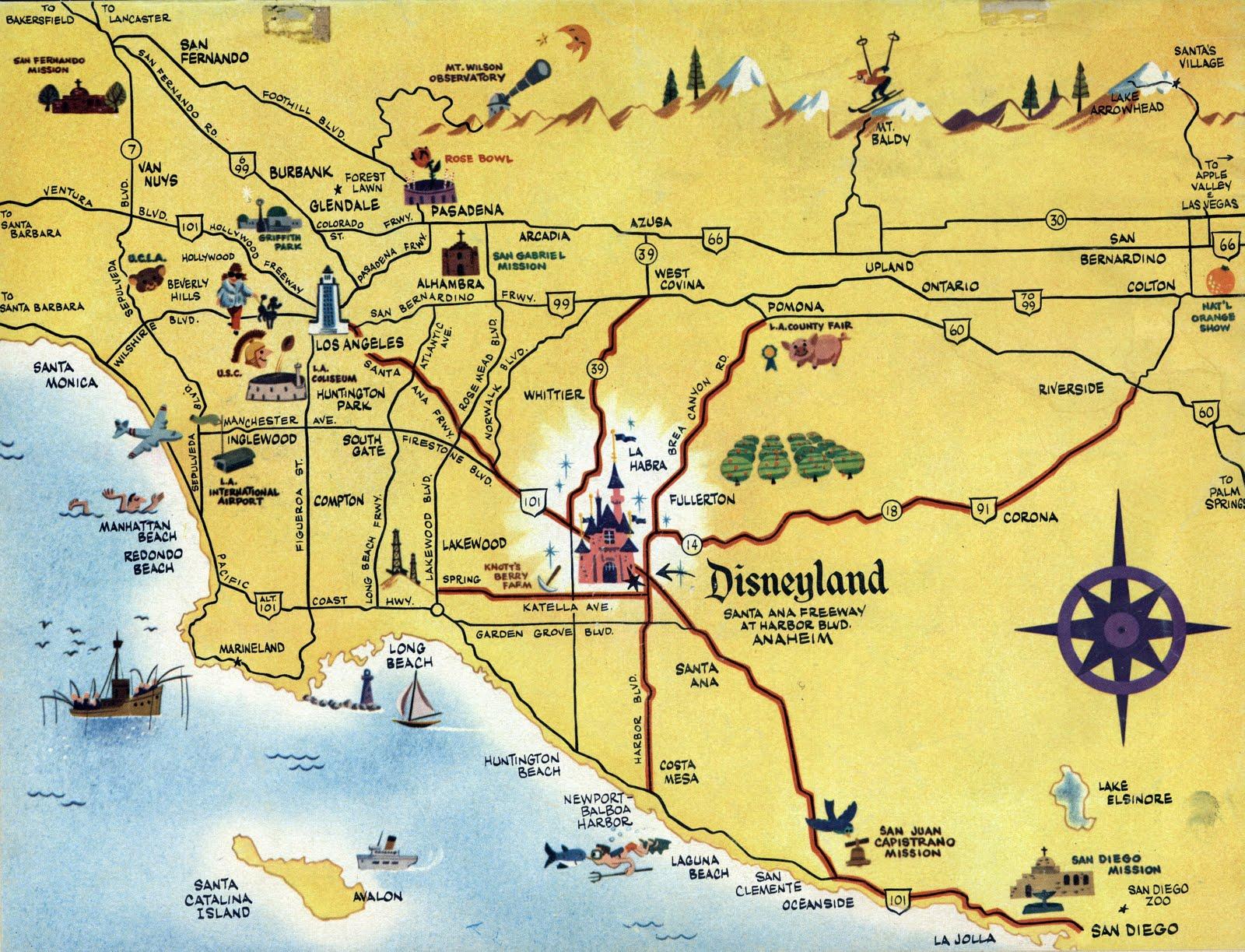 The Nutmeg February - Los angeles map vintage