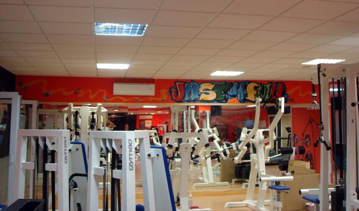 Graffitish murales y decoraci n noviembre 2011 - Decoracion gimnasio ...