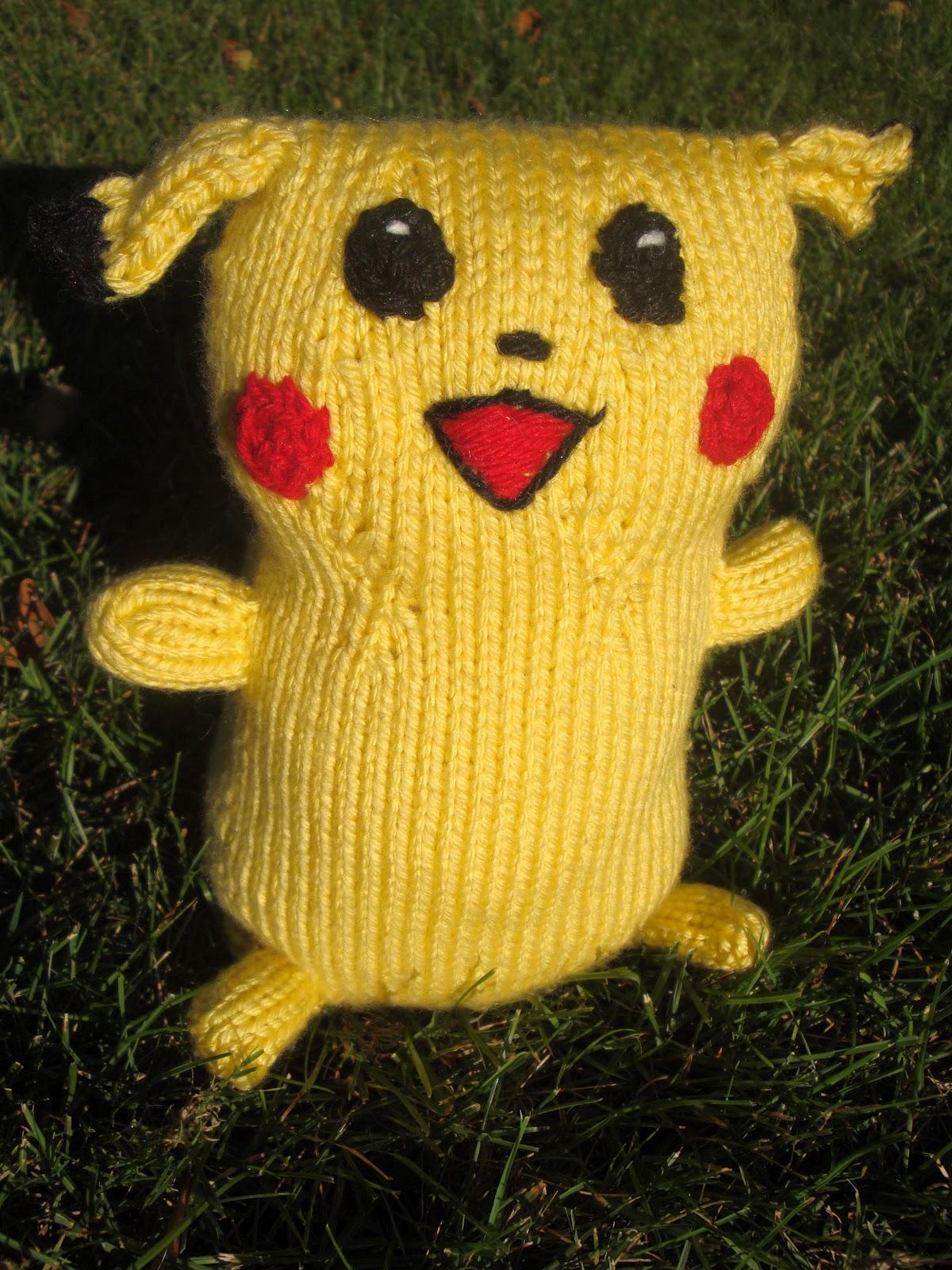 handmade by stefanie: New Free Pattern: Pikachu!