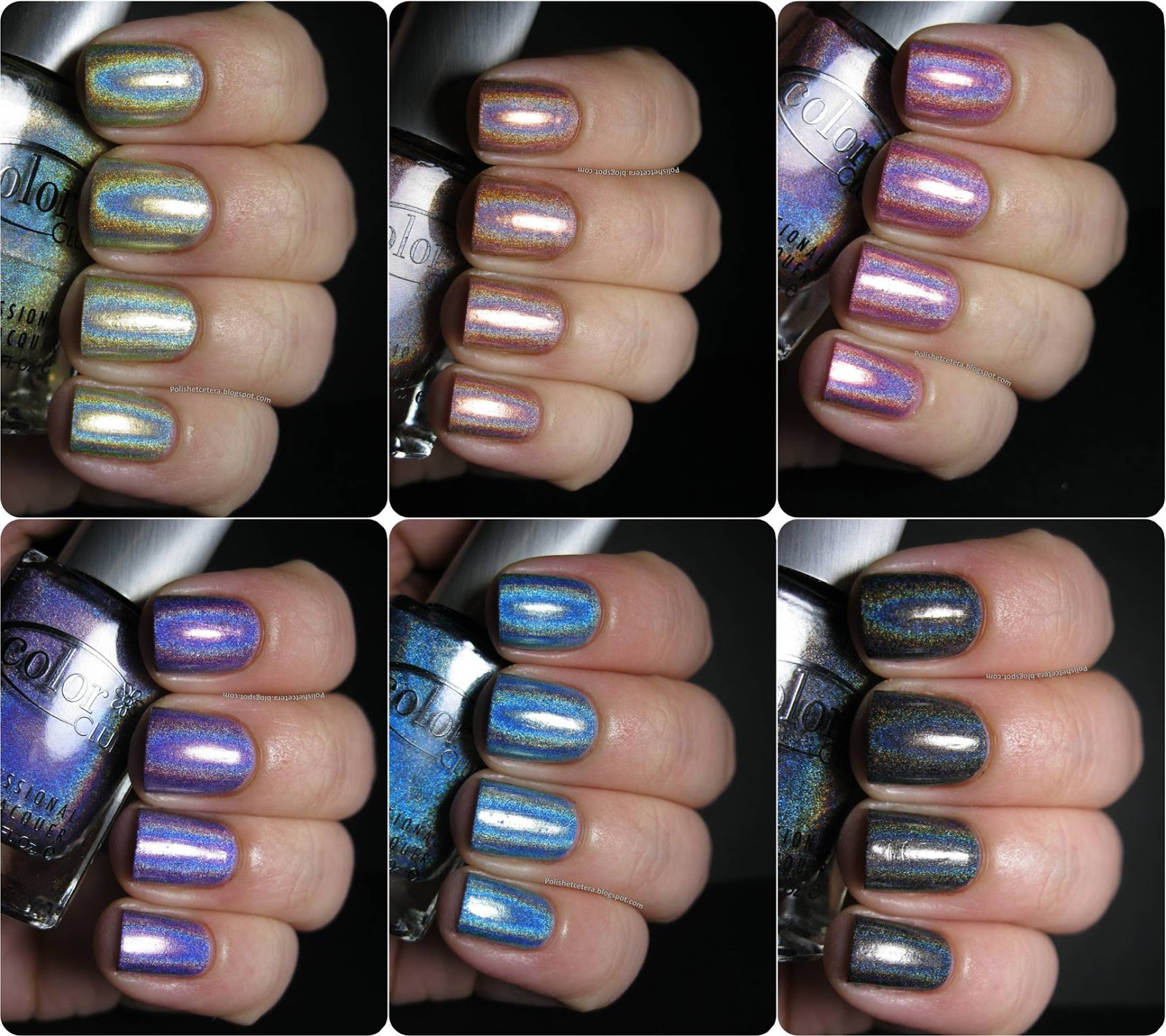 Color Club Holographic Nail Polish Swatches: Color Club Holo Hues 2013 Swatches And Comparisons