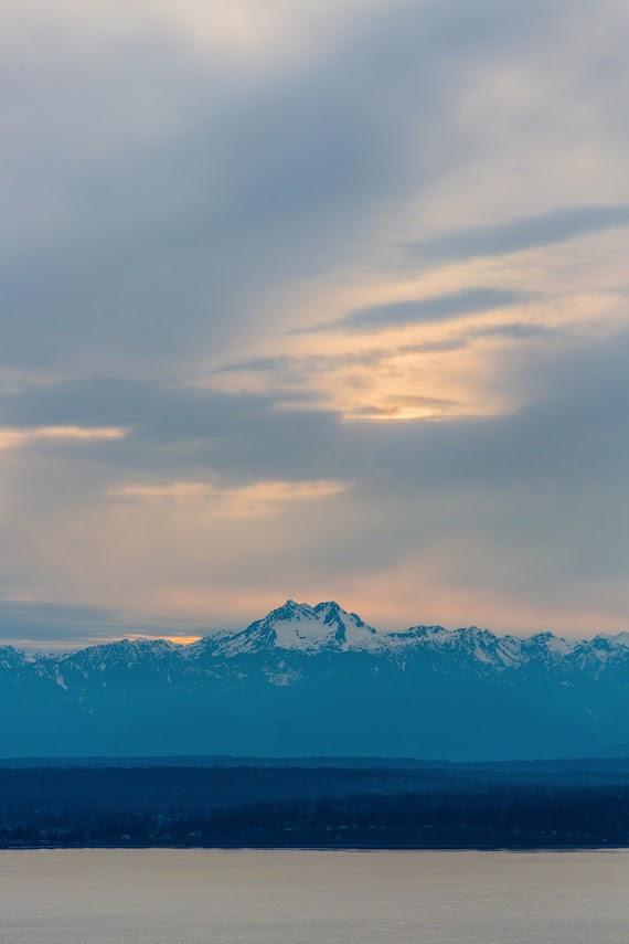 Cloudy Sunset, Seattle, WA -- by Harpreet Grewal