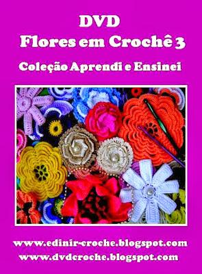 flores em croche amor perfeito da coleção aprendi e ensinei com edinir-croche dvd ideo-aulas blog loja frete gratis