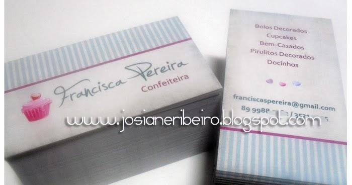 Josiane Ribeiro: Cartão de Visita para Confeiteira ...
