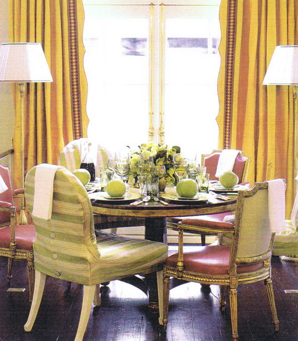 Immediately You Will Have A Quick Change For Little Money Again Imagine This Dining Room With All The Same Color Chairs Wouldnt Be So Fun Now Would It