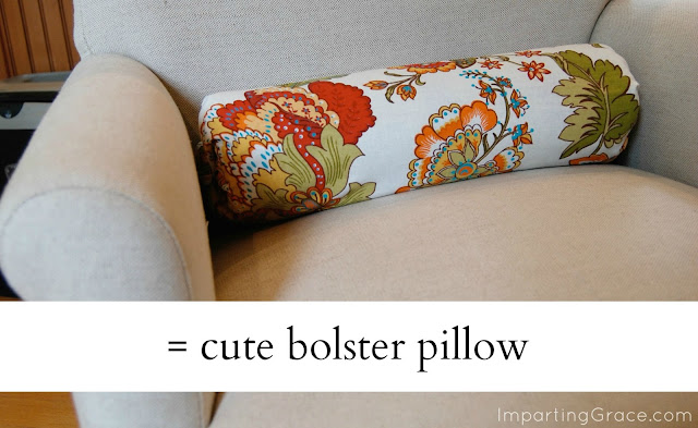 Imparting Grace: Super-easy decorative pillow made from scraps