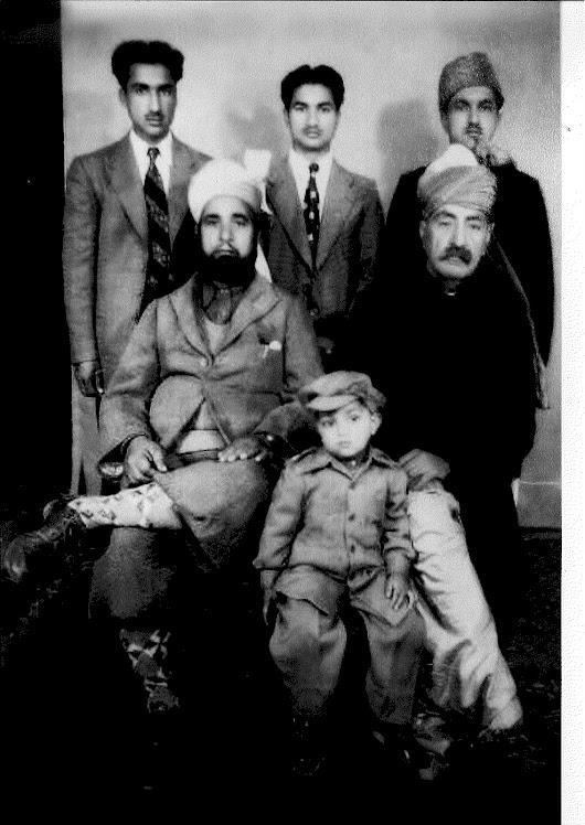 Sitting L-R Raja Adalat Khan (1877-1968 (City Inspector of Police) ,Raja Akbar Khan(Bhimber)