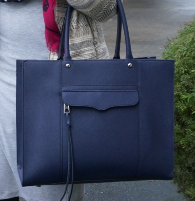 Rebecca Minkoff medium MAB tote in moon navy
