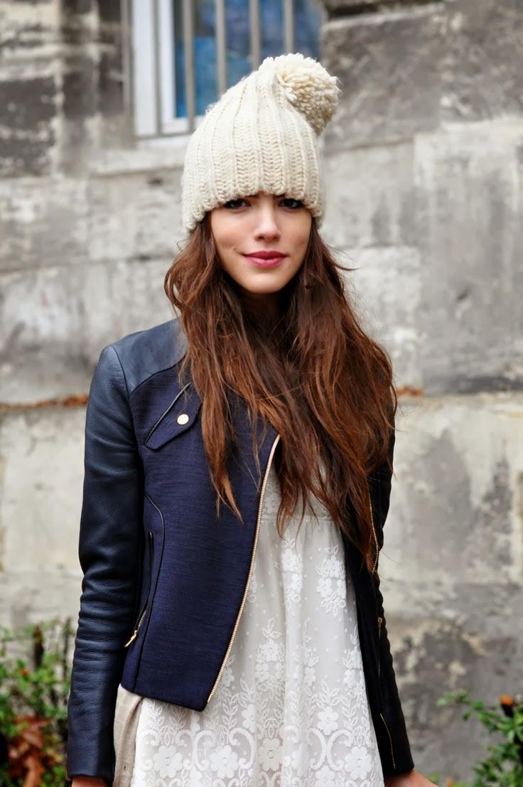 Beautiful navy leather jacket