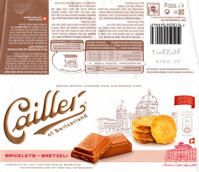 tablette de chocolat lait gourmand cailler lait bricelets