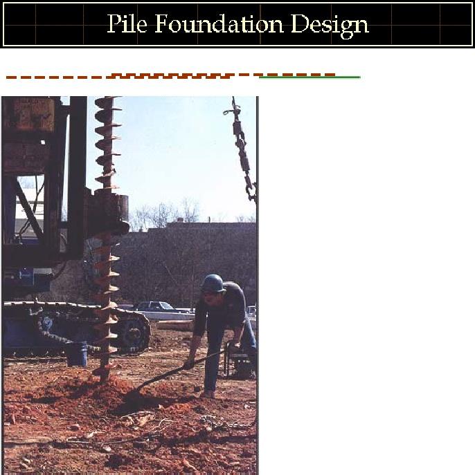 Pile Foundation Design : Pile foundation design