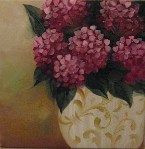 wOils Vase with Hydrangeas