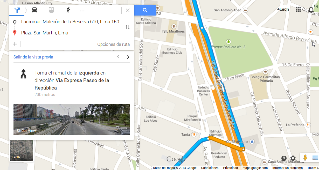 Servicios de Google: Maps + Street View