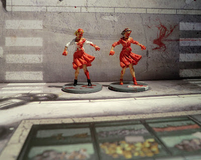 Zombicide Painted Zombie Walkers female Sexy