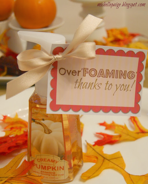 Overfoaming Thankful Gift