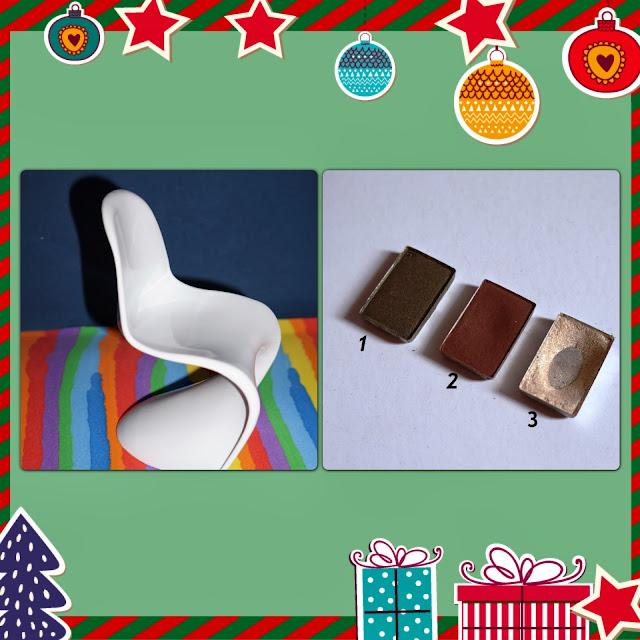 mini cadeira panton e três cores da sombra mineral Mary Kay
